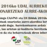 2016ko    Udal    aurrekontuak    onartzeko    aurre-akordioa    dela    eta,    Andoaingo    EAJ-PNV    +    EH    Bilduren    ohar    bateratua